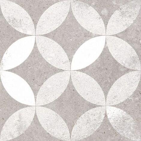 Carrelage style ancien Quatre-feuilles 20x20 cm KERALA Gris - 1m²