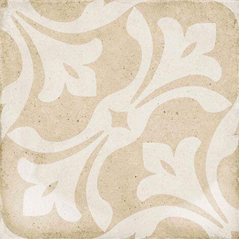 Carrelage style ciment beige 20x20 cm ART NOUVEAU LA RAMBLA BISCUIT 24408 - 1m²