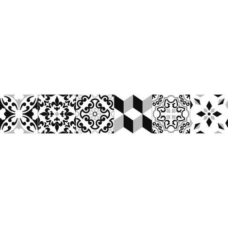 Carrelage style parquet ciment ARTIC BLACK 15x90 cm - 1.08m²