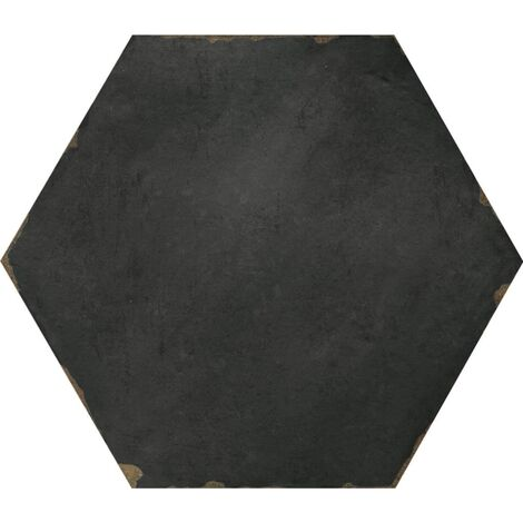 Carrelage tomette 14x16 cm CAMBRIDGE NERO - 0.50 m²