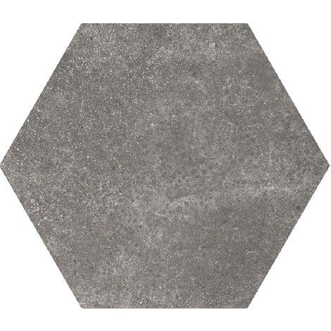 Carrelage tomette 17.5x20 - HEXATILE CEMENT BLACK - 22094 R10 - 0.71m²