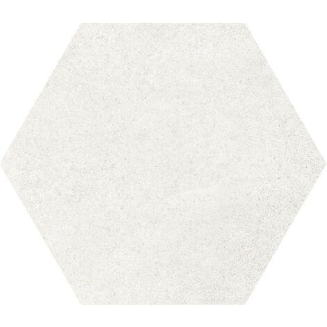 Carrelage tomette 17.5x20 - HEXATILE CEMENT WHITE - 22092 R10 - 0.71m²