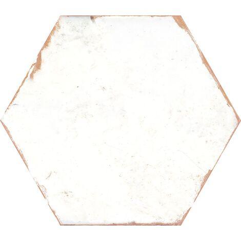 Carrelage tomette 21x25 cm BENGALINE WHITE - 0.80 m²