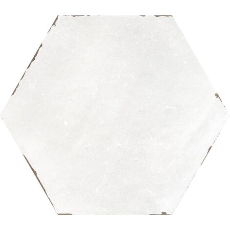Carrelage tomette blanc 14x16 cm CAMBRIDGE WHITE - 0.50 m²