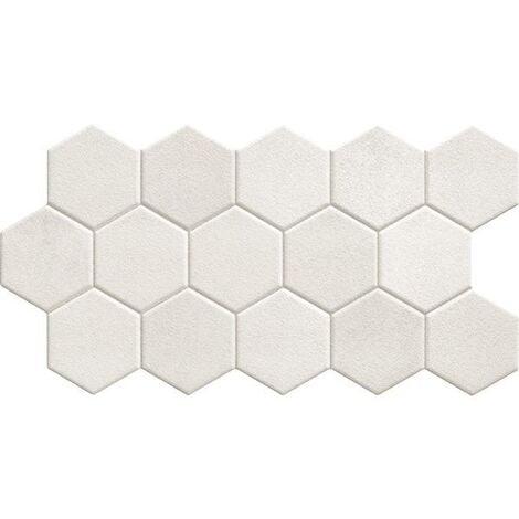 Carrelage tomette blanche mate 26.5x51 cm HEX WHITE - 0.95m²