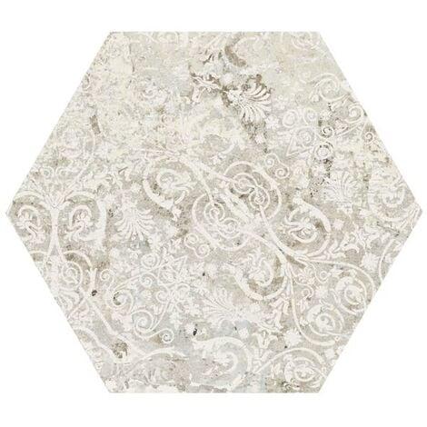 Carrelage tomette décors vieillis CARPET SAND NATURAL HEXAGON 25x29 cm - R9 - 0.935m²