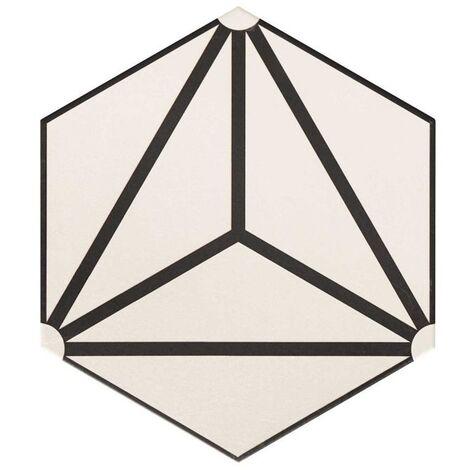 Carrelage tomette géométrique33x28.5 OSAKA WHITE - 1m²