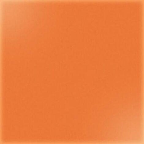 Carrelage uni 20x20 cm orange brillant ARENARIA - 1.4m²