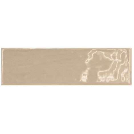 Carrelage uni brillant beige 6.5x20cm COUNTRY VISON 0.5m²