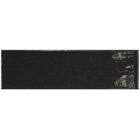 "main image of ""Carrelage uni brillant noir anthracite 6.5x20cm COUNTRY ANTHRACITE 21535 0.5m²"""