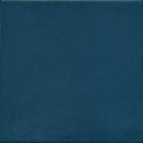 Carrelage uni vieilli 20x20 cm 1900 Azul - 1m²