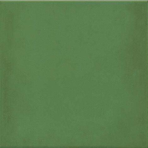 Carrelage uni vieilli 20x20 cm 1900 Verde - 1m²