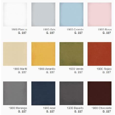 Carrelage uni vieilli 20x20 cm pour damier couleur au choix