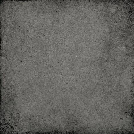 Carrelage uni vieilli gris charbon 20x20 cm ART NOUVEAU CHARCOAL GREY 24398 - 1m²