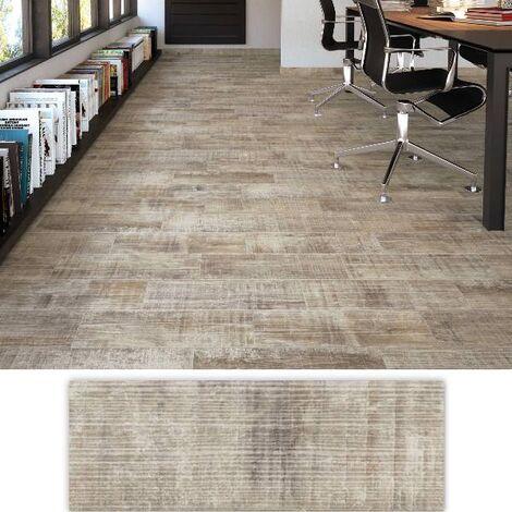 Carrelage usé blanchi style parquet ANTIC 17.50x50 cm - 1.31m²