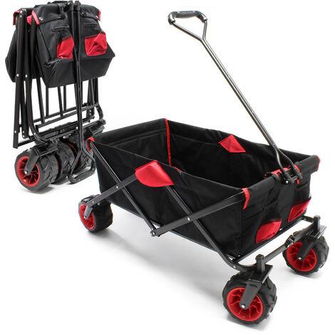 Carrello a mano pieghevole Carrello da trasporto con ruote di plastica e una portata massima di 80kg