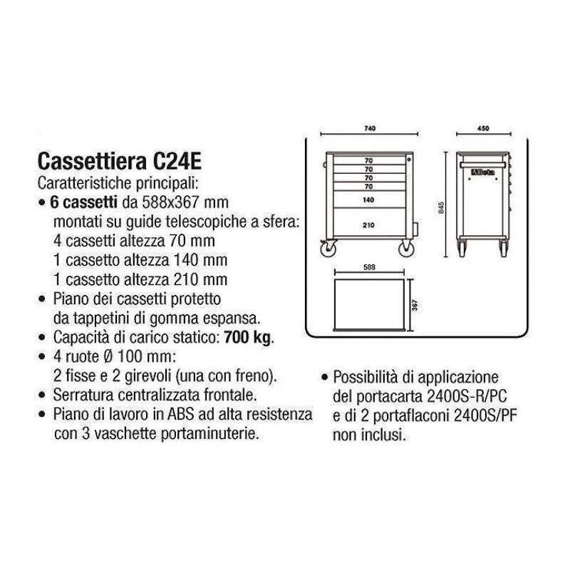 Carrello beta c24e va cassettiera portautensili vuota