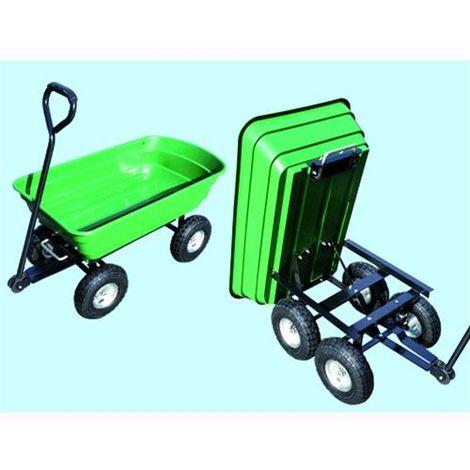 Carrello Carretto ribaltabile da Giardino Green Trolley 75 Litri portata max 250 Kg