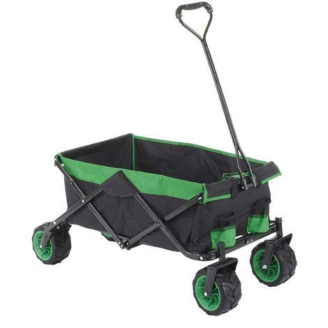 Carrello carriola pieghevole HWC-E62 ruote fuoristrada ~ senza tetto/tasca verde