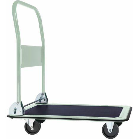 Carrello con pianale pieghevole max. 150 kg - carrello portapacchi, carrello a pianale, carrello pianale - bianco
