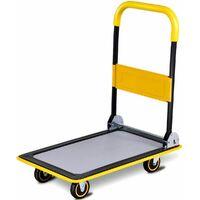 Carrello con Piattaforma Pieghevole Carrello Trasporto Merci Capacità di Carico 150 kg