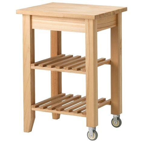 Tavolo Con Ruote Ikea.Carrello Da Cucina Ikea Bekvam In Legno Massiccio Di Faggio