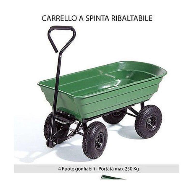 80 l Blinky Argo Carrello in Acciaio con 4 Ruote Ribaltabile