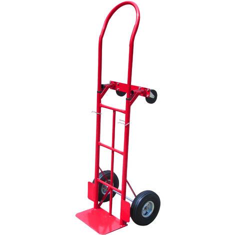 Carrello da trasporto con quattro ruote in gomma, portata max 350 kg - ELEM