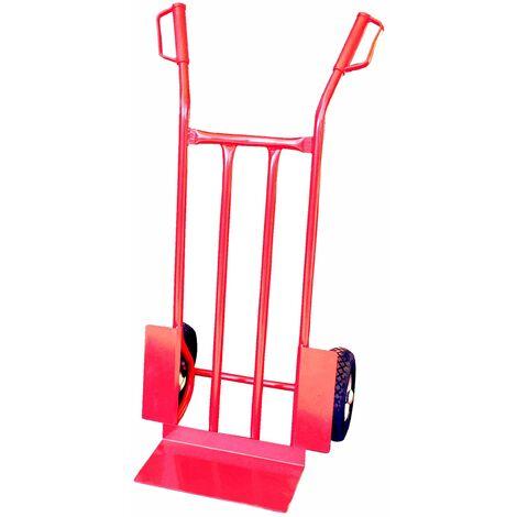Carrello leggero ruote pneumatiche Misura cm (LxPxH) 46x120 Misura pala cm (LxP) 20x31 Tipo ruote pneumatiche Diam. ruote mm 260 Portata kg 120 Peso kg 8,4 Colore Rosso