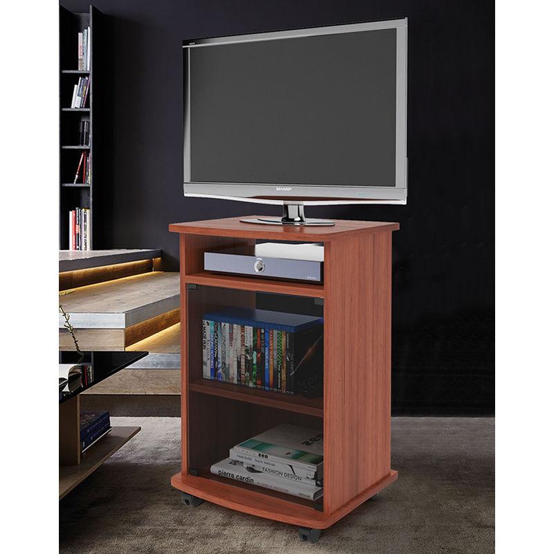 Carrello Mobile Porta TV Ciliegio con Ruote Ingresso Soggiorno Moderno  Mobiletto