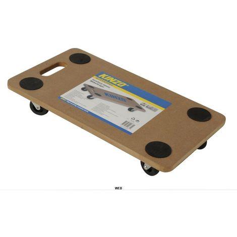 Carrello porta pacchi mobili 296319 pieghevole Kinzo 108x20x40 cm max 150 kg