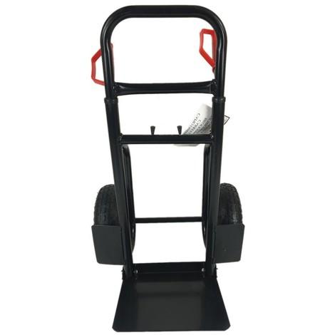 Carrello Porta Pacchi ruote pneumatiche porta casse Richiudibile Acciaio portata 200kg STI