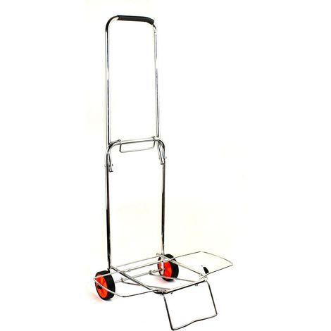 Carrello porta valigia pieghevole EVERTOP 86x43x35 cm 444005 carico max 30 kg