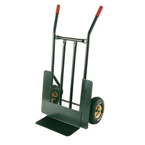 Carrello portacasse hercules in acciaio portata kg.300 ruote pneumatiche mm.260 - Salone