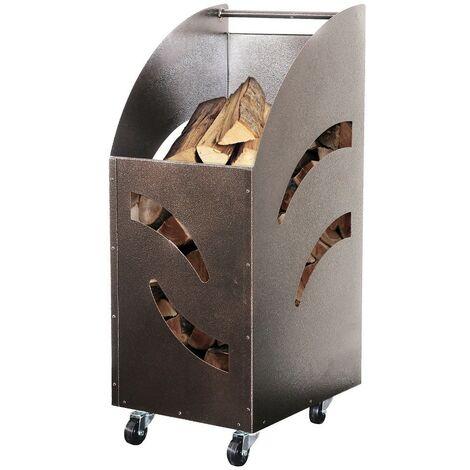 Carrello portalegna 'comodo' smontabile in acciaio 32x42x80h - Salone