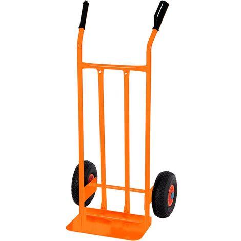 Carrello portapacchi bravetta in acciaio con ruote pneumatiche portata 200kg Brixo