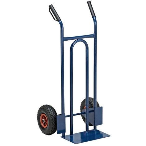 Carrello portapacchi con ruote pneumatiche portata 200 kg per casa e bricolage