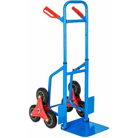 Carrello portapacchi montascale fino a 100kg - carrello portautensili, carrello portatutto, carrello pacchi - blu
