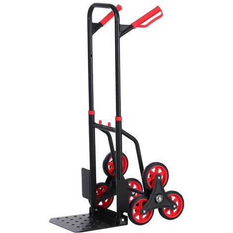 Carrello portapacchi pieghevole 6 ruote per scale scalini carico massimo 150kg