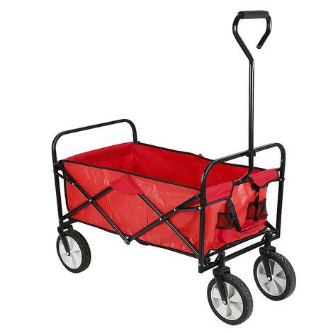 Carrello portapacchi pieghevole - carrello pieghevole - rosso
