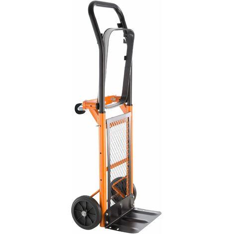 carrello portapacchi universale in acciaio - carrello portautensili, carrello portatutto, carrello pacchi - arancio