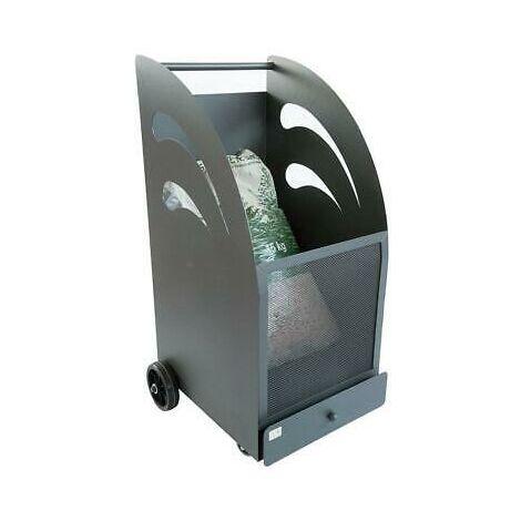 Carrello portapellet pellet in ferro battuto carrelli porta pellets 45x42x80h