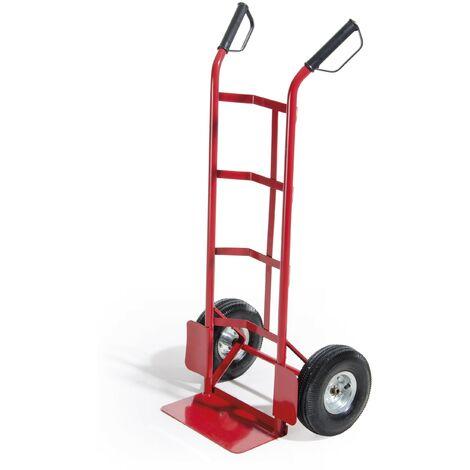 Carrello portatutto in metallo 150 kg di portata | Rosso
