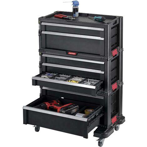 Carrello portautensili con 7 cassetti nero KETER 238557