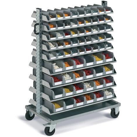 Carrello portautensili FAMI con picking box - 138 contenitori porta minuteria - 1430 H mm