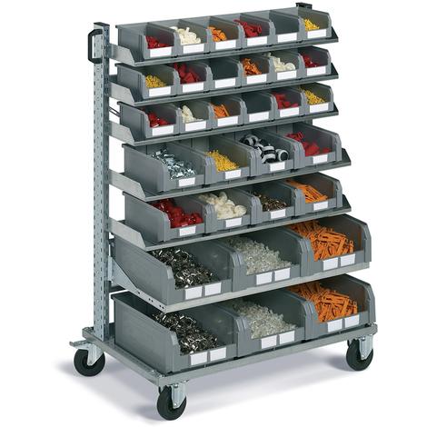 Carrello portautensili FAMI con picking box - 32 contenitori porta minuteria - 1430 H mm