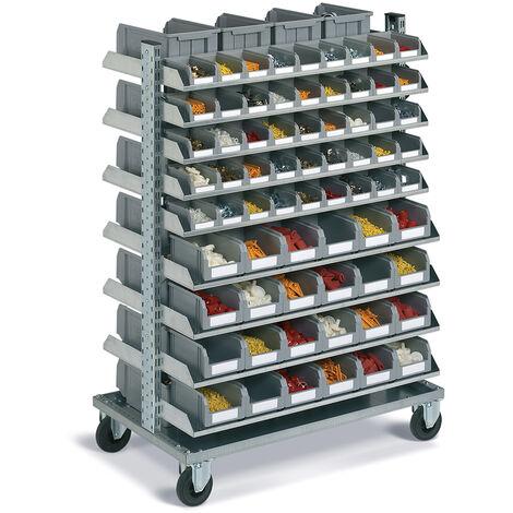 Carrello portautensili FAMI con picking box - 97 contenitori porta minuteria - 1430 H mm