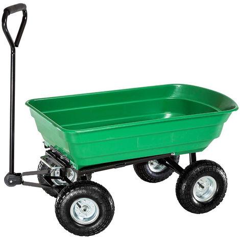 Carrello ribaltabile per giardinaggio carico max 200kg