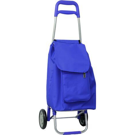 Carrello spesa blu maurer 45l 35x37x96hcm