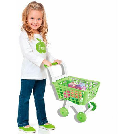 Carrello spesa giocattolo bambini gioco supermarket con set accessori